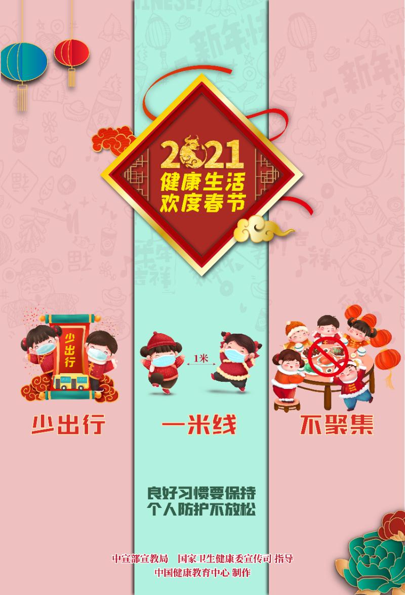 健康生活欢度春节海报(年娃)2